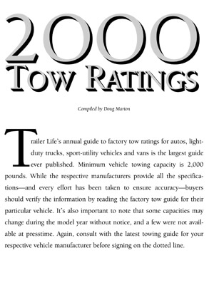 2000 Guide to Towing