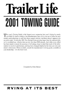 2001 Guide to Towing