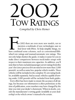 2002 Guide to Towing
